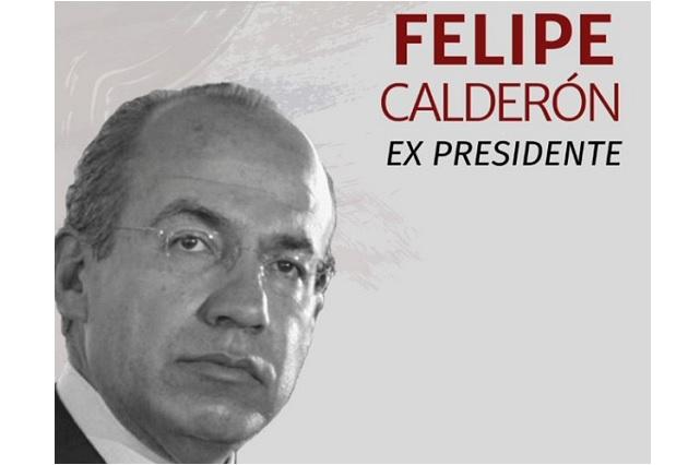 Tunden en redes a Calderón por plática que dará en Tec de Monterrey
