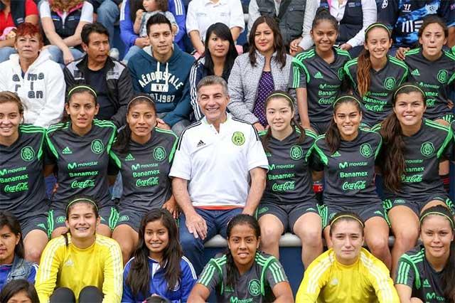 Gali recibe a la Selección Mexicana Femenil Sub 20