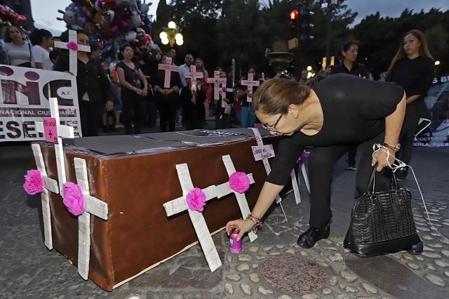 Puebla, tercera entidad con más feminicidios y sin alerta de género