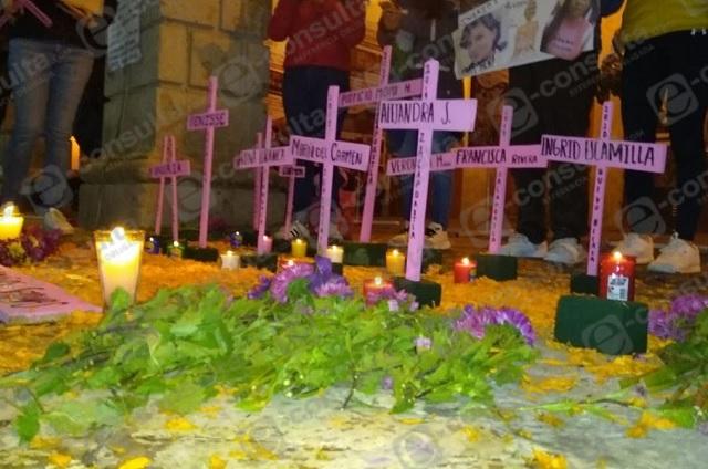 Recuerdan a víctimas de feminicidio en Zacapoaxtla