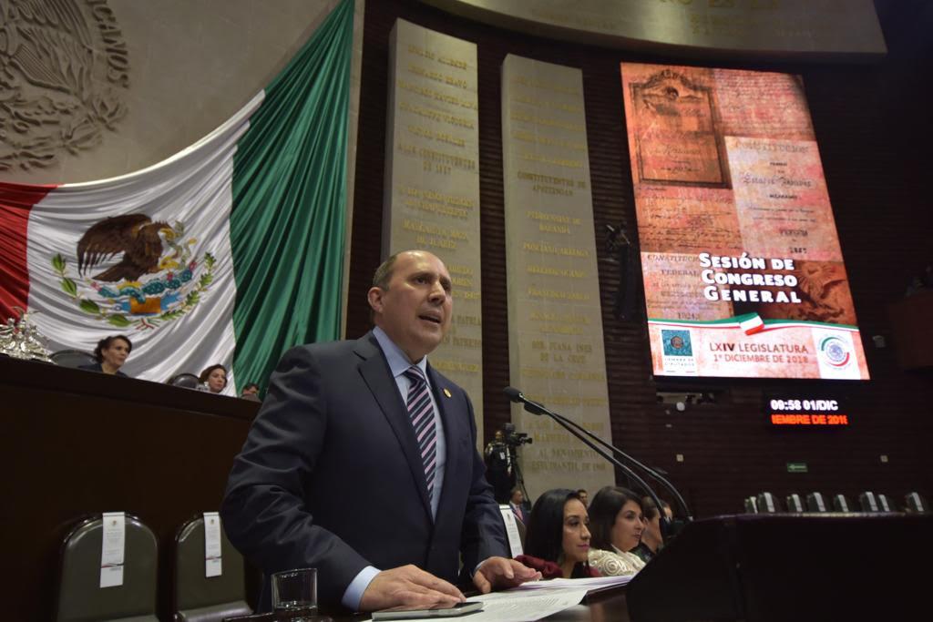Manzanilla fijó posicionamiento del PES en toma de posesión de AMLO