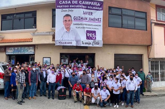 Hacer equipo con los ciudadanos, pide Manzanilla a candidatos del PES