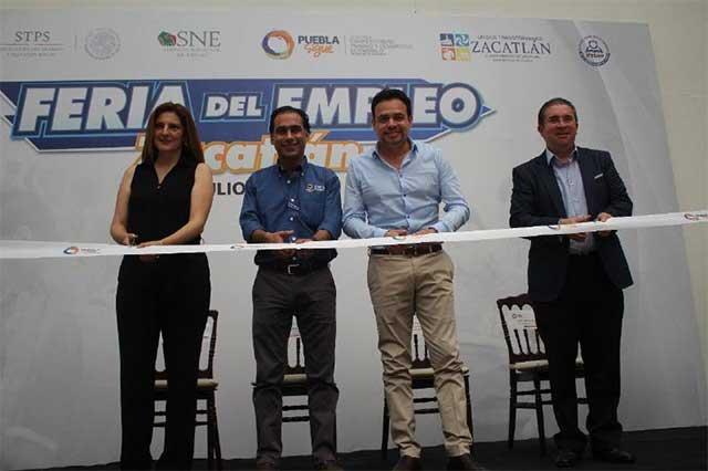 Inaugura Secotrade la Feria de Empleo en Zacatlán