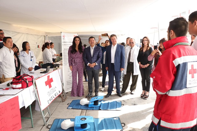 Realizan  Primera Feria Integral de Salud en San Pedro Cholula