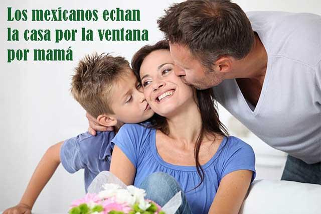 El 60% de los mexicanos gasta más de 500 pesos en festejar a mamá