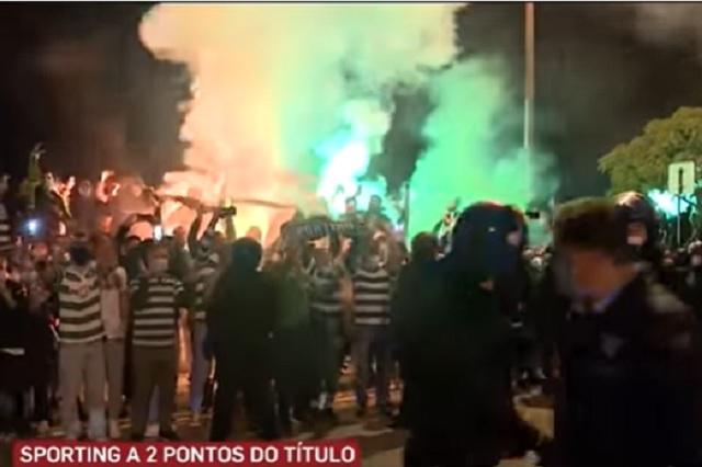 Festejos en Portugal por campeonato del Sporting desatan riña contra la policía