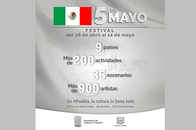 Festival 5 de mayo tendrá más de 200 actividades de arte y cultura