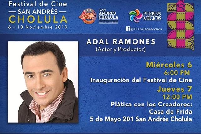 Adal Ramones, Sherlyn y Pierre Ángelo en el Festival de Cine de Cholula