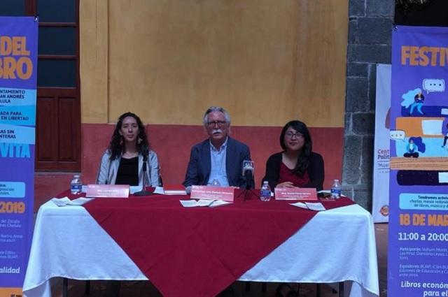 San Andrés Cholula presenta e invita al Festival del Libro