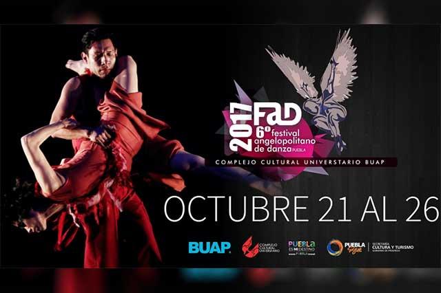 Viene la VI edición del Festival Angelopolitano de Danza Fad