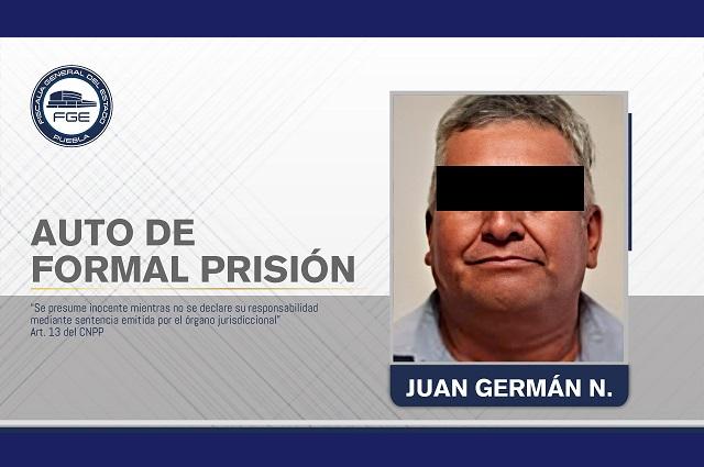Dictan auto de formal prisión a violador de Tlapanalá