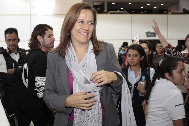 Cancela Margarita Zavala visita a Puebla por daño en la retina