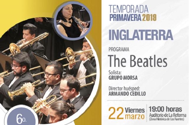 Presenta la Filarmónica 5 de mayo programa dedicado a The Beatles
