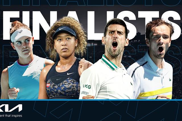 Osaka-Brady y Djokovic-Medvedev, las finales del Abierto de Australia