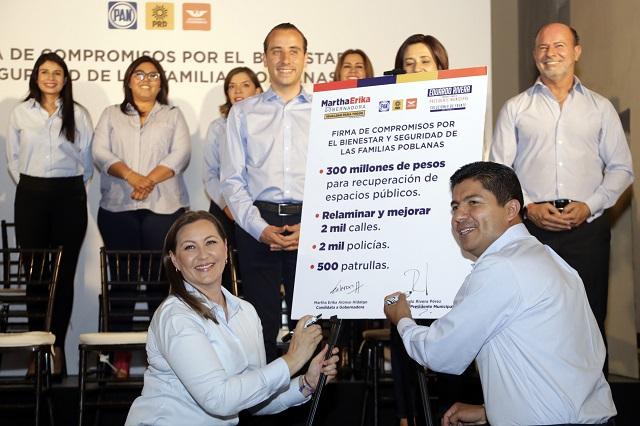 Alonso y Rivera proponen contratar 2 mil policías y adquirir 500 patrullas
