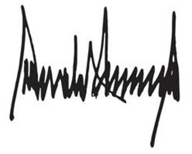 La firma de Donald Trump es similar al registro de un sismógrafo