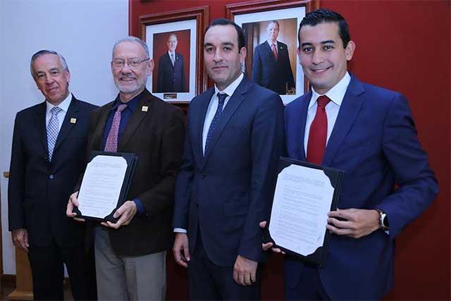 IBERO Puebla, Banco Santander y Laudex firman convenio financiero
