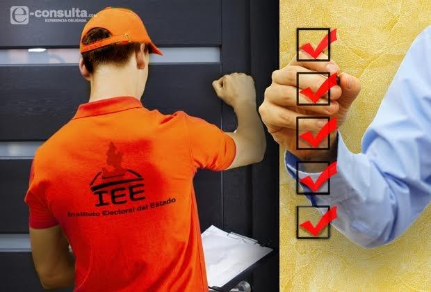 Defiende IEE cotejo de firmas en casas de seguidores de Aranda