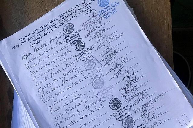 Con casi 4 mil firmas piden nuevo agente del MP para Atlixco