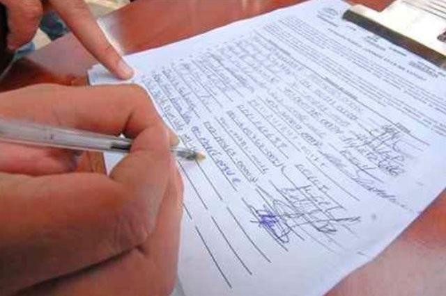 Pide INE 66 mil firmas en un mes a independientes en Puebla