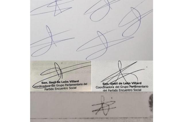 Senadora Sasil de León revira que su firma sí es auténtica