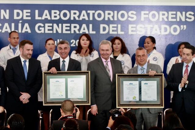 Iniciativa Mérida certifica estándar internacional de laboratorios FGE