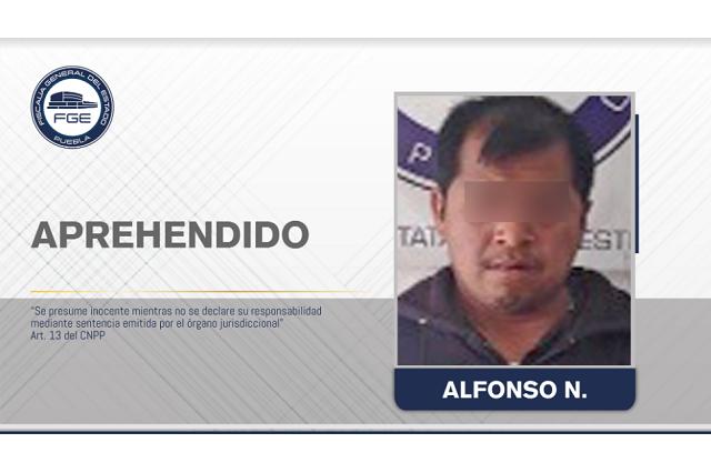Fiscalía Puebla capturó a presunto responsable de violar a sus hijas