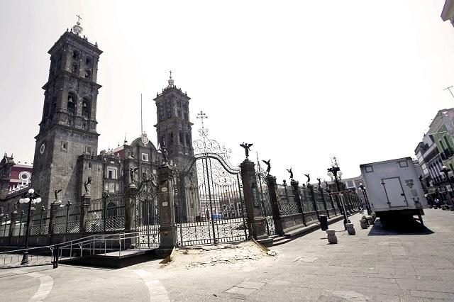 Hallan fisura en la Catedral de Puebla tras sismo del 23 de junio