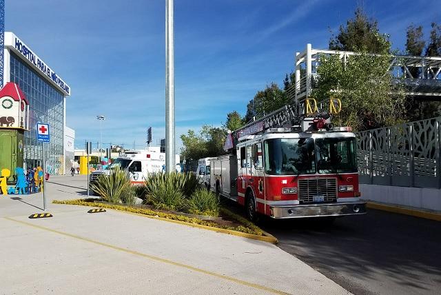 Flamazo causa alarma en el Hospital del Niño Poblano