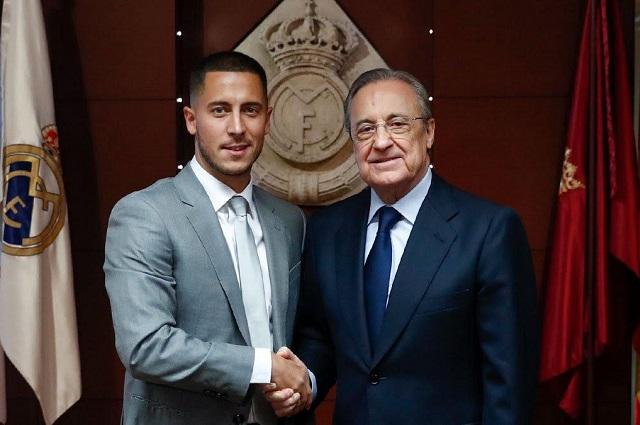Hazard enloquece al Bernabéu en su presentación con el Madrid