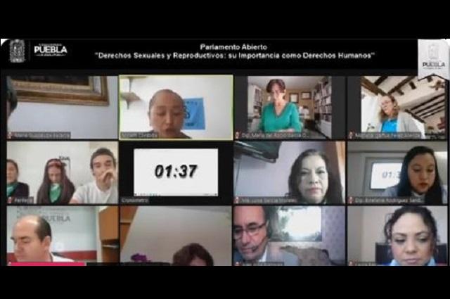 Discute Congreso despenalizar el aborto en Puebla