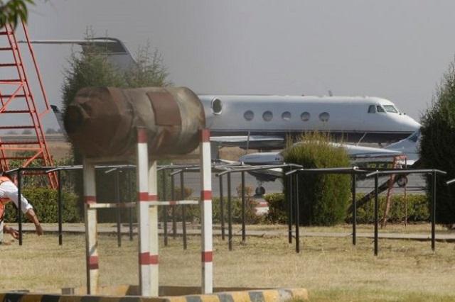 Simulacro de incendio de nave en Aeropuerto Internacional de Puebla