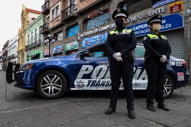 Policía Municipal de Puebla detuvo 84 personas en 1 semana