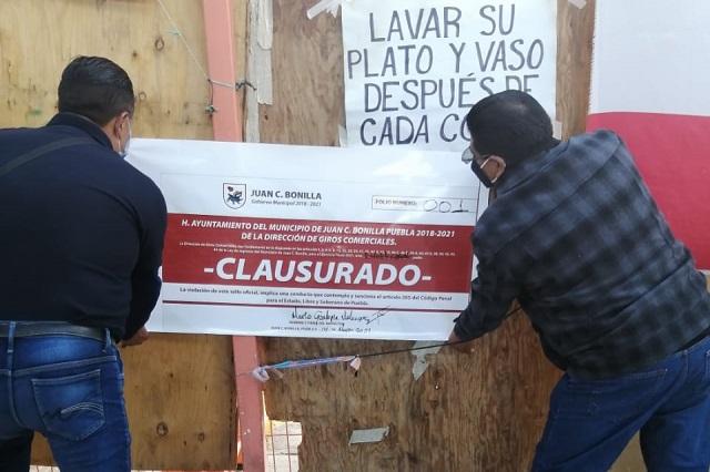 Clausura Protección Civil de Juan C Bonilla planta Bonafont