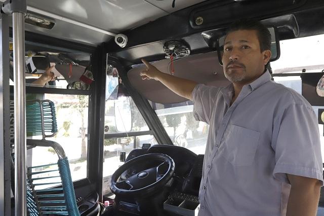 Apenas 60 % del transporte tiene video vigilancia en Puebla: SMT