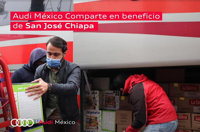 Colaboradores de Audi México donan insumos a San José Chiapa