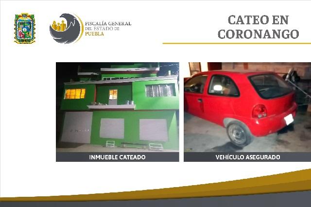 En Coronango FGE recupera en cateo un vehículo robado