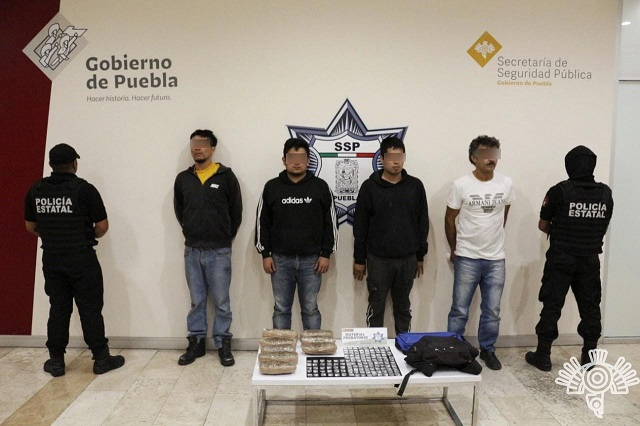 """Captura Policía Estatal a cuatro narcomenudistas de """"El Chupón"""