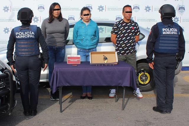Detienen a 3 en Puebla por conducir un vehículo robado