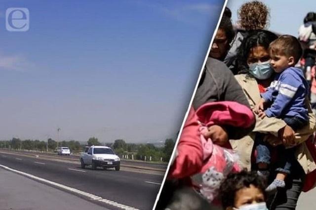 Comando asalta a migrantes en la autopista México-Puebla