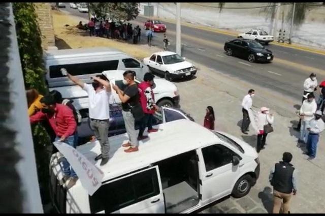 Conato de violencia en bunker de Morena por candidaturas