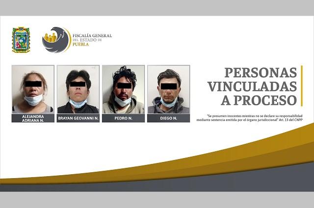 Prisión contra cuatro detenidos con droga en Texmelucan