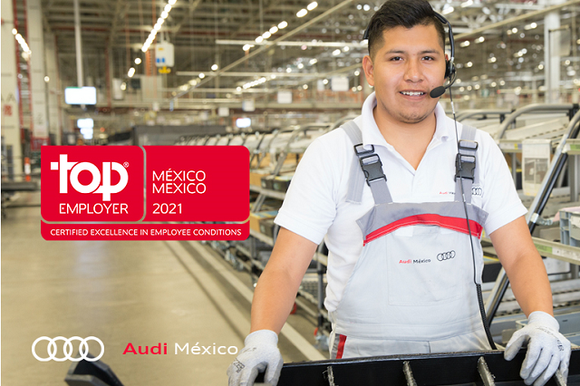 Audi México recibe certificación como mejor empleador 2021