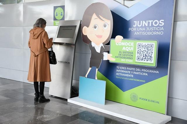 En kioskos electrónicos se consultan expedientes en Ciudad Judicial