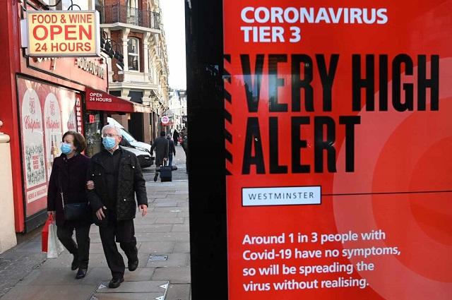 Variante británica del Covid sigue mutando; hay peligro