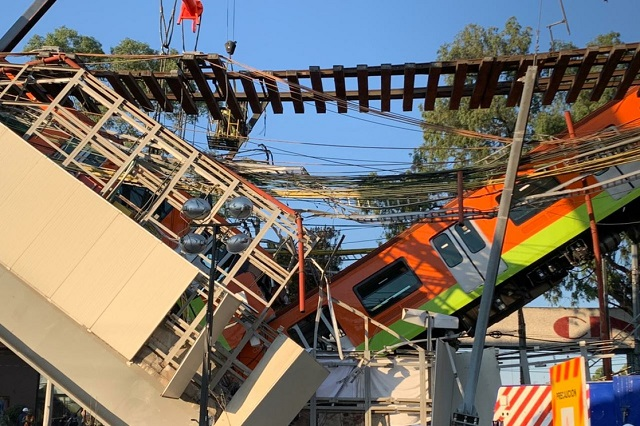 Inician desmantelamiento de área colapsada de Línea 12 del Metro