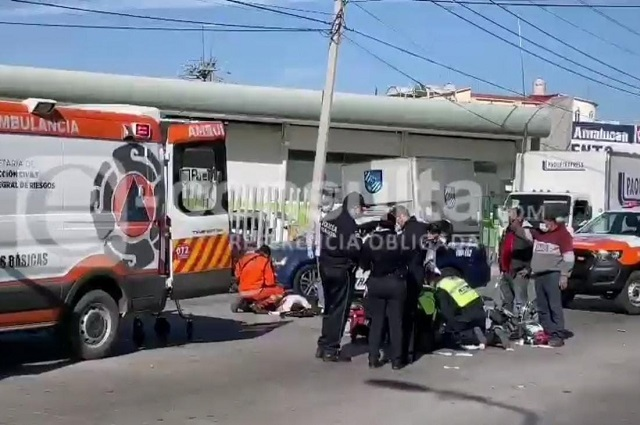 Ahora motociclista embiste a patrulla en Satélite Magisterial