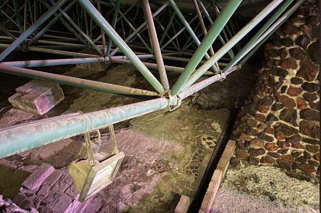 Granizada en CDMX tira techo de resguardo en Templo Mayor