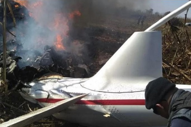 Piloto de los Moreno Valle iba intoxicado con monóxido de carbono