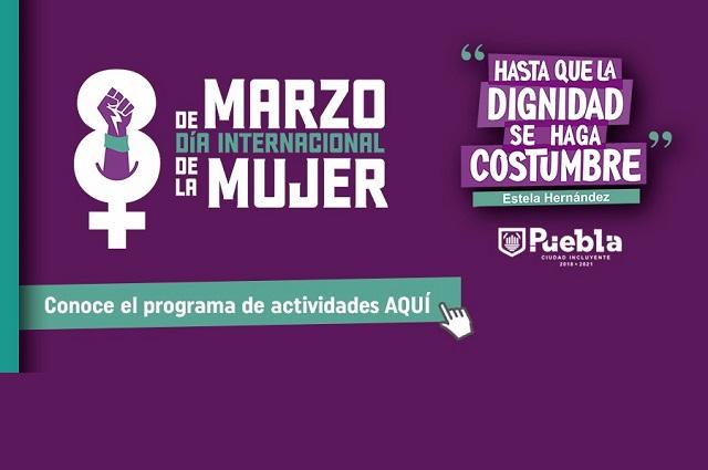 Día de la Mujer virtual en ayuntamiento de Puebla